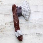 Viking Axe Rattle Crochet Pattern