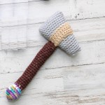Tomahawk Baby Rattle Crochet Pattern