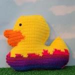 Duck in Easter Egg Cuddler Crochet Pattern