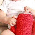 Flashlight Shaped Baby Rattle Crochet Pattern