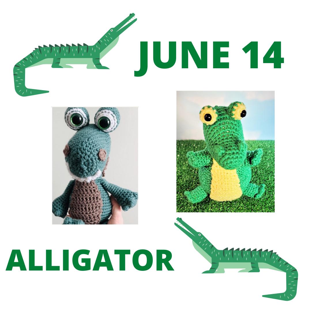 alligator crochet patterns