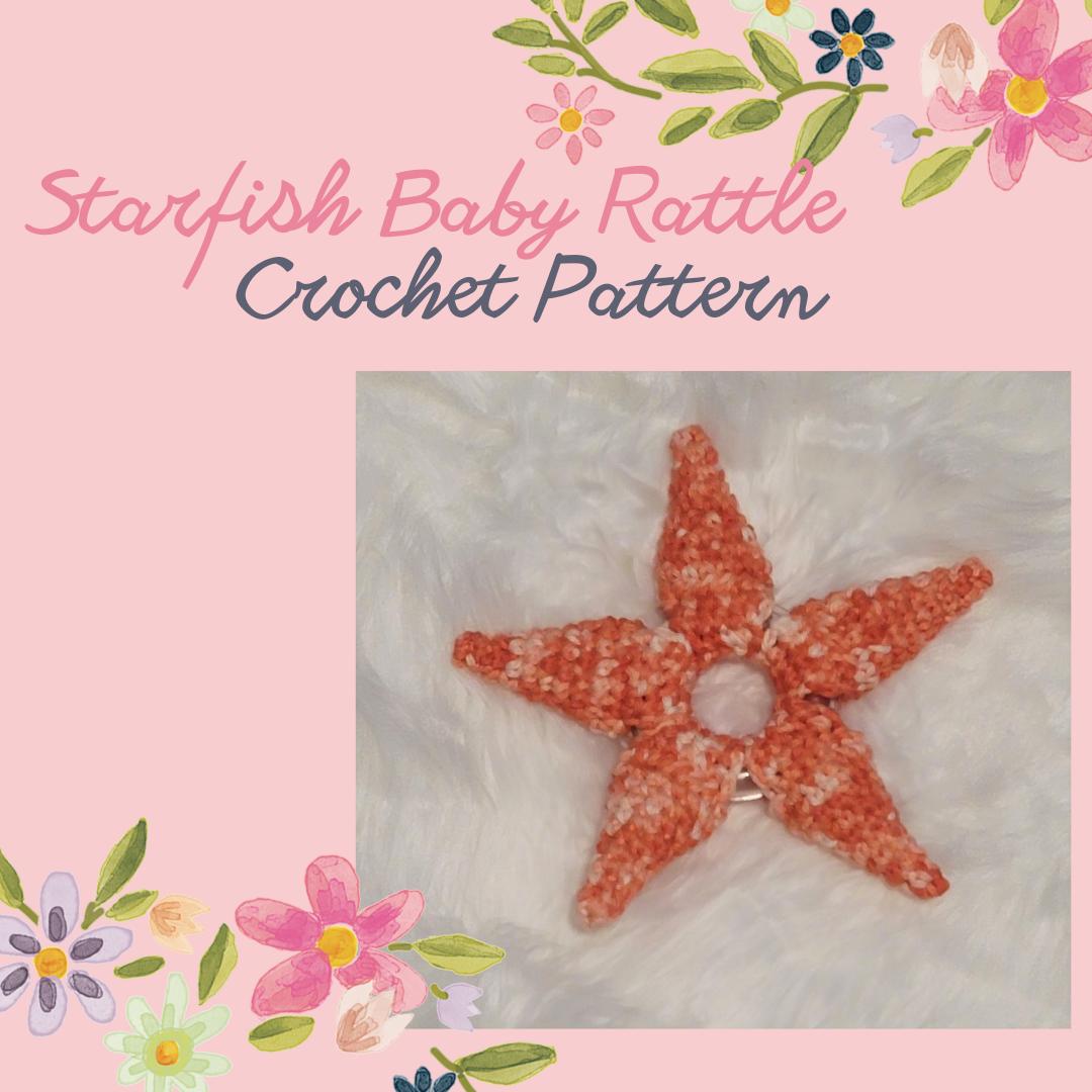 starfish baby rattle